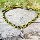 Punutud jalapael kilpkonnaga - roheline, pruun, kollane
