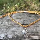 Punutud jalapael päike - kollane, oranž, õrnkollane