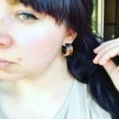 Roosipuust kõrvarõngad mererannakiviga
