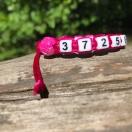 Telefoninumbriga käepael roosa roosiga