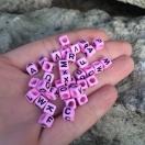 Tähehelmes 6mm roosa