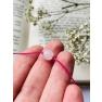 Soovipael tahutud roosa kvartsiga 8mm